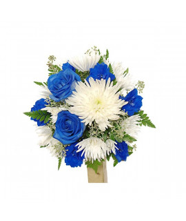 The bride's bouquet brightness of blue