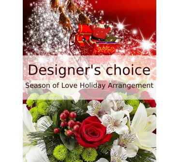 Designer's choice   Season of Love Holiday Arrangement